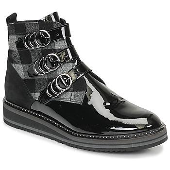 Schuhe Damen Boots Regard ROCPOL V3 VERNIS Schwarz