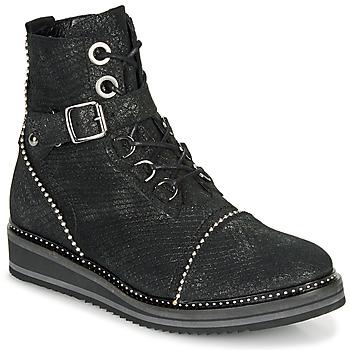 Schuhe Damen Boots Regard ROCTALY V2 CRTE SERPENTE SHABE Schwarz