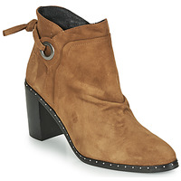 Schuhe Damen Low Boots Philippe Morvan BATTLES V3 CHEV VEL Camel