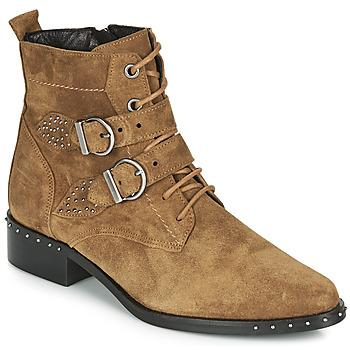 Schuhe Damen Boots Philippe Morvan SWAG V4 CRTE VEL Camel