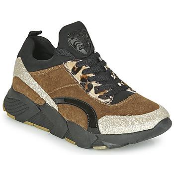 Schuhe Damen Sneaker Low Philippe Morvan VERSO V2 GLITTER FIN Braun / Schwarz