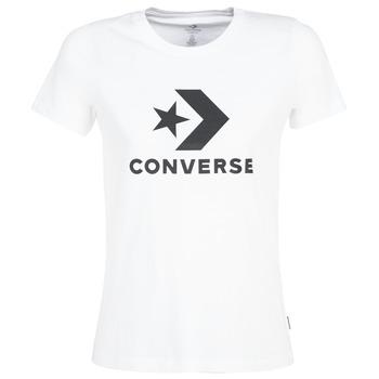 Kleidung Damen T-Shirts Converse STAR CHEVRON Weiss