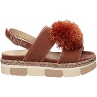 Schuhe Damen Leinen-Pantoletten mit gefloch Jeannot SCARPE D rosa