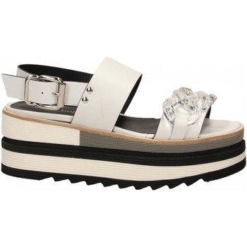 Schuhe Damen Sandalen / Sandaletten Laura Bellariva VITELLO CON CATENA bianco-trasparente