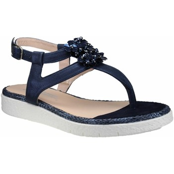 Schuhe Damen Zehensandalen Softwaves Sandaletten ink (navy) 7.64.02 Dani blau