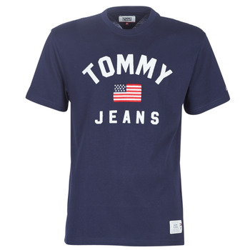 Kleidung Herren T-Shirts Tommy Jeans TJM USA FLAG TEE Marine