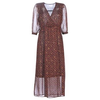 Kleidung Damen Maxikleider See U Soon 9221839 Schwarz / Rot