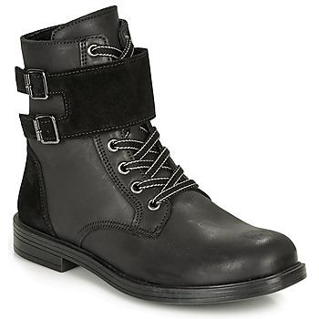 Schuhe Mädchen Boots Citrouille et Compagnie LOMENE Schwarz