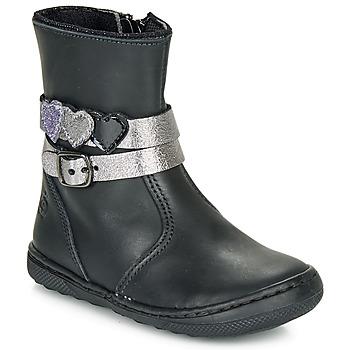 Schuhe Mädchen Boots Citrouille et Compagnie LOMINE Schwarz