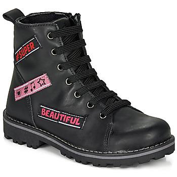 Schuhe Mädchen Boots Citrouille et Compagnie LIBIDOU Schwarz