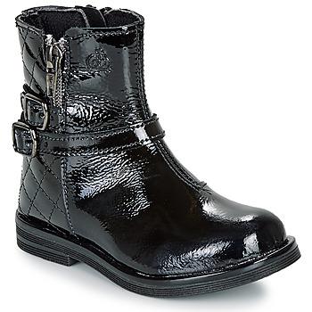 Schuhe Mädchen Boots Citrouille et Compagnie LIMIDOU Schwarz