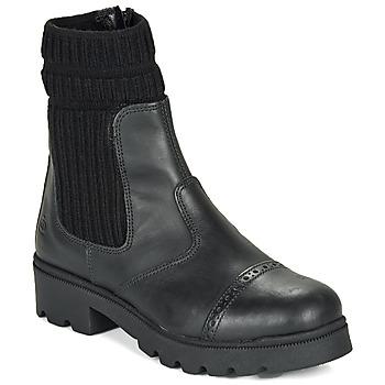 Schuhe Mädchen Boots Citrouille et Compagnie LOBINOUTE Schwarz