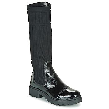 Schuhe Mädchen Boots Citrouille et Compagnie LAPADOU Schwarz
