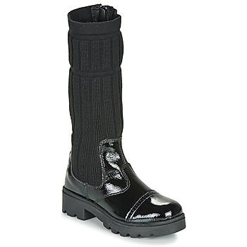 Schuhe Mädchen Klassische Stiefel Citrouille et Compagnie LAPADOU Schwarz