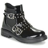 Schuhe Mädchen Boots Citrouille et Compagnie LIRONDEL Schwarz