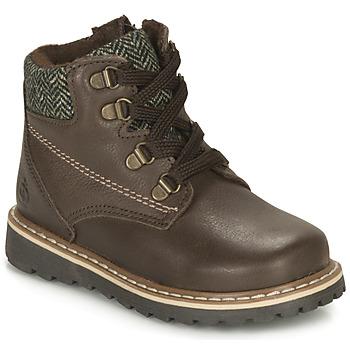 Schuhe Jungen Boots Citrouille et Compagnie LINETTE Braun