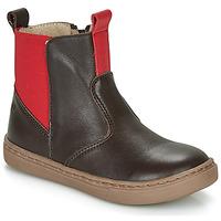 Schuhe Jungen Boots Citrouille et Compagnie JRYNE Braun / Rot