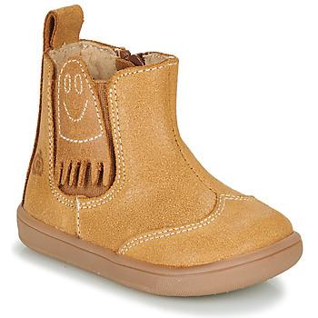 Schuhe Jungen Boots Citrouille et Compagnie LOKO Camel
