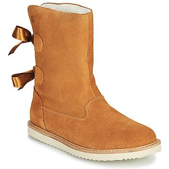 Schuhe Mädchen Boots Citrouille et Compagnie LILINA Camel