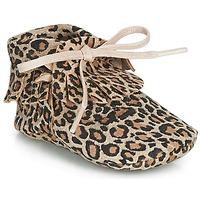 Schuhe Mädchen Hausschuhe Citrouille et Compagnie LILIFI Camel / Leopard