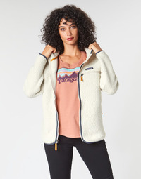 Kleidung Damen Fleecepullover Patagonia W'S RETRO PILE HOODY Weiss