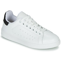 Schuhe Damen Sneaker Low Yurban SATURNA Weiss / Schwarz
