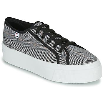 Schuhe Damen Sneaker Low Yurban SUPERTELA Schwarz / Weiss