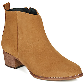 Schuhe Damen Low Boots So Size MARTINO Camel
