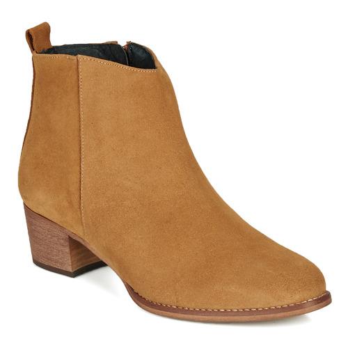 Schuhe Damen Low Boots So Size MARTINO Camel