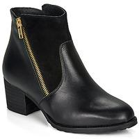 Schuhe Damen Low Boots So Size FELICIO Schwarz