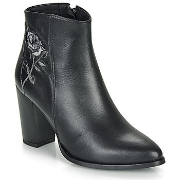 Schuhe Damen Low Boots So Size BORDELO Schwarz