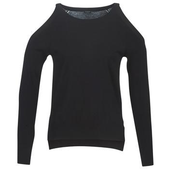 Kleidung Damen Pullover Guess CUTOUT Schwarz