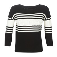 Kleidung Damen Pullover Guess VIOLANTE Schwarz / Weiss