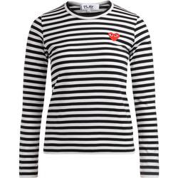 Kleidung Damen Langarmshirts Comme Des Garcons Comme des Garçons T-Shirt Play Rundhalsausschnitt mit Bunt