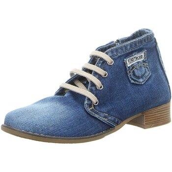 Schuhe Damen Low Boots Artiker Stiefeletten 42C0224 blau