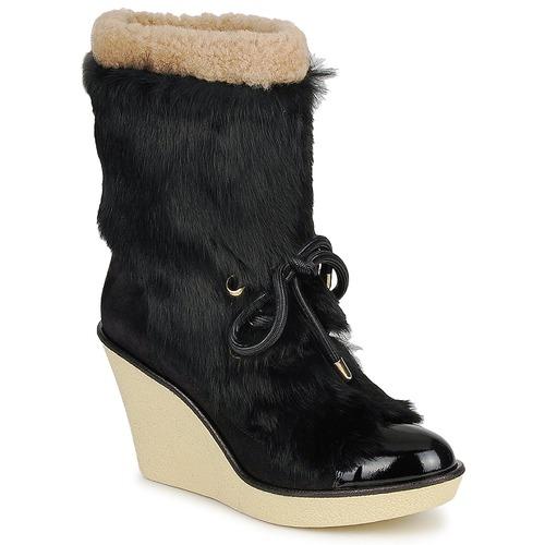 Sonia Rykiel HAIRY Schwarz Schuhe Low Boots Damen 277,50
