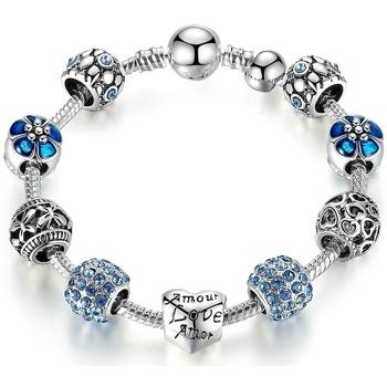 Uhren & Schmuck Damen Armbänder Blue Pearls CRY C2111 J Multicolor