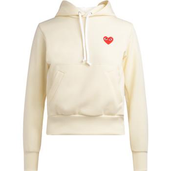 Kleidung Damen Sweatshirts Comme Des Garcons Comme des Garçons Sweatshirt Play in Elfenbeinfarbe mit Kapuze Weiss