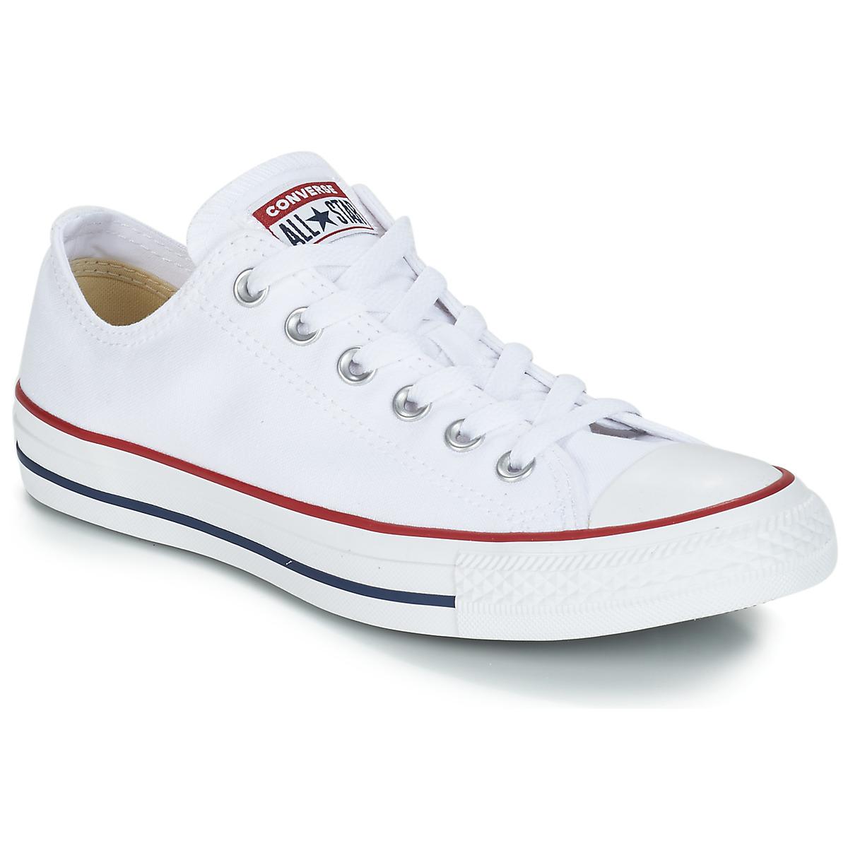 Converse CHUCK TAYLOR ALL STAR CORE OX Weiss - Kostenloser Versand bei Spartoode ! - Schuhe Sneaker Low  51,99 €