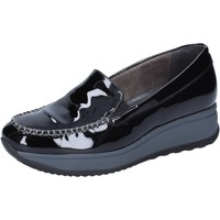 Schuhe Damen Slipper Lady Soft mokassins lack schwarz