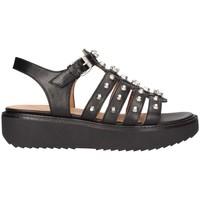 Schuhe Damen Sandalen / Sandaletten Janet Sport 43906 schwarz