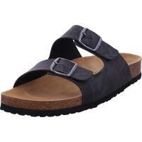 Schuhe Herren Pantoffel Lico Bioline Print anthrazit/schwarz