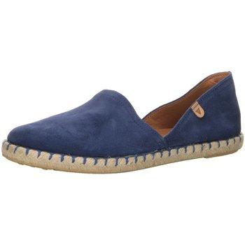 Schuhe Damen Leinen-Pantoletten mit gefloch Verbenas Slipper Carmen 030058-0001-0445 blau