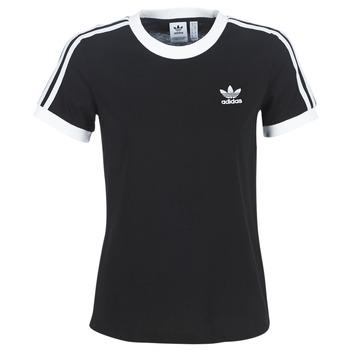 Kleidung Damen T-Shirts adidas Originals 3 STR TEE Schwarz