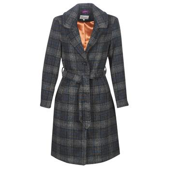 Kleidung Damen Mäntel Cream CHEKIA Marine / Grau