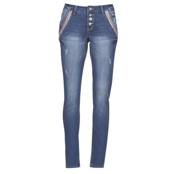 Kleidung Damen Straight Leg Jeans Cream DICTE Blau