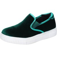 Schuhe Damen Slip on Francescomilano slip on samt grün