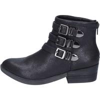 Schuhe Damen Low Boots Francescomilano stiefeletten textil schwarz