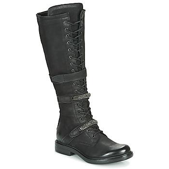 Schuhe Damen Klassische Stiefel Mjus CAFE HIGH Schwarz