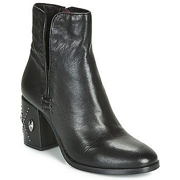 Schuhe Damen Low Boots Mjus TWISTER METAL Schwarz